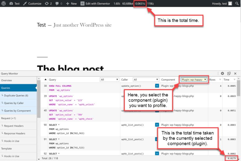 Диагностика запросов и анализ производительности WordPress - плагин Query Monitor