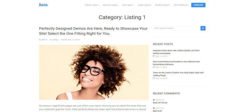 лучшие темы блога Elementor