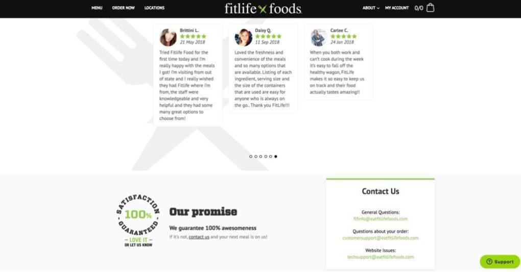 Сайт Fitlife Foods, с гарантированным удовлетворением 100%