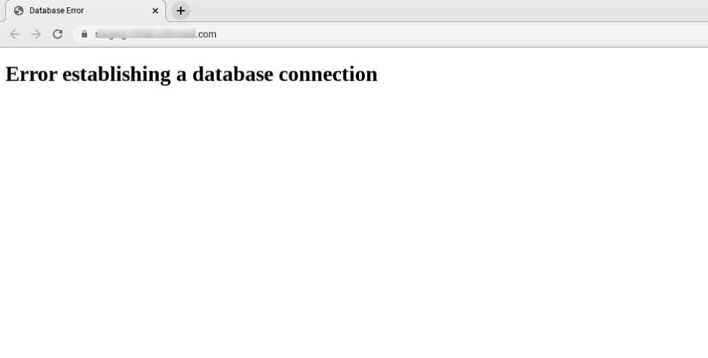 Ошибка при установлении сообщения о соединении в браузере.