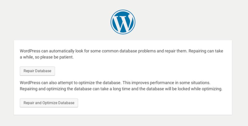 Оптимизация и восстановление базы данных WordPress.