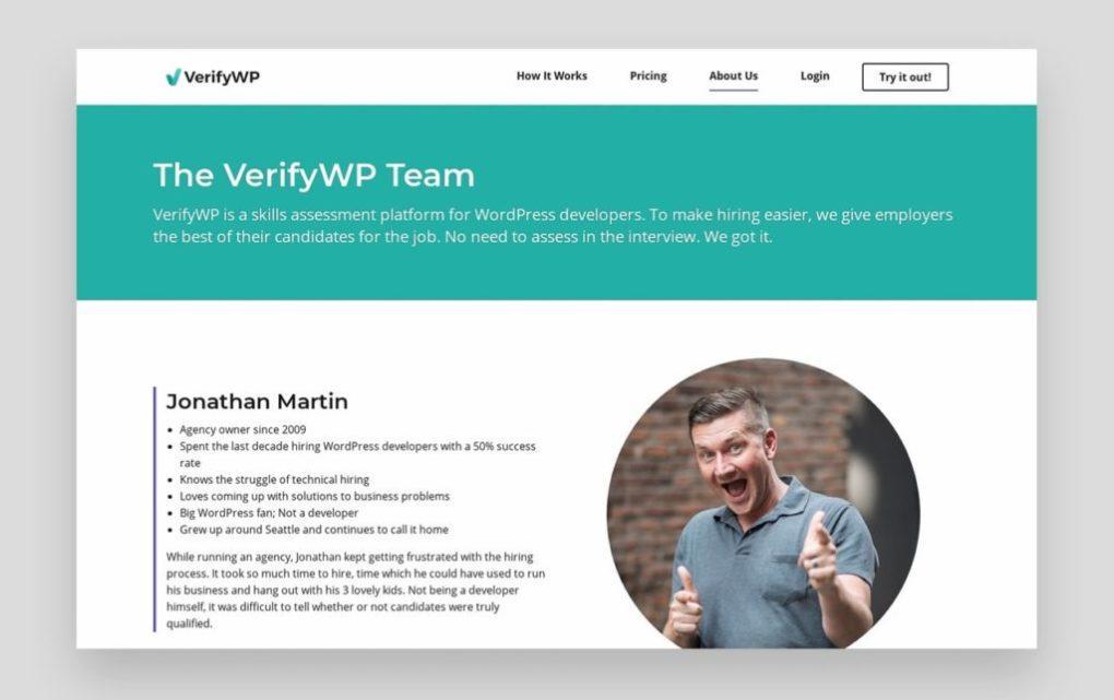 Verifywp Team О странице с фотографиями творческой команды