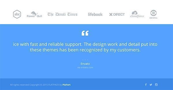 Flatpack конструктор тем Landing Page