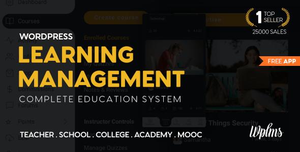 Система управления обучением Wplms для WordPress, тема для образования