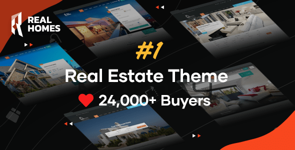 Realhomes WordPress тема продажи и аренды недвижимости