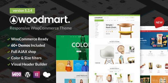 Woodmart адаптивная тема WordPress для Woocommerce