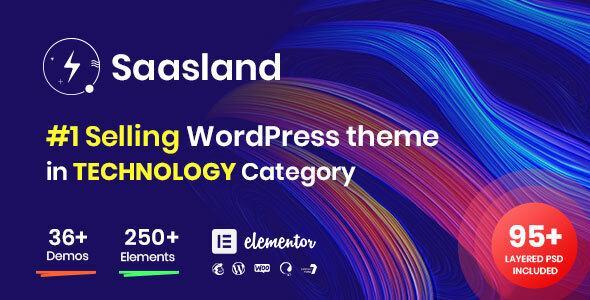 Saasland многоцелевая тема WordPress для стартапа Saas