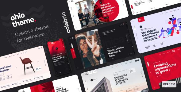 Огайо тема WordPress для творческого портфолио и агентства