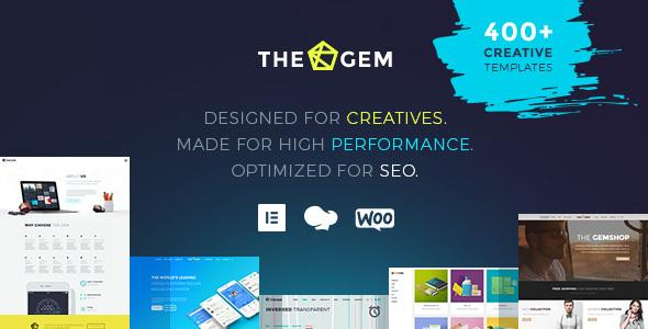 Thegem творческая многоцелевая высокопроизводительная тема WordPress