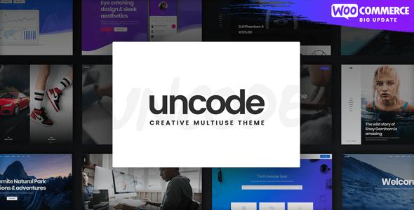 Uncode творческая многофункциональная тема WordPress для Woocommerce