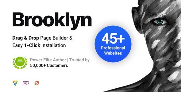 Бруклин   Креативная многоцелевая адаптивная тема WordPress
