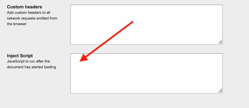 Сценарий inject позволяет вам изменять свойства загрузки шрифтов на данной странице.